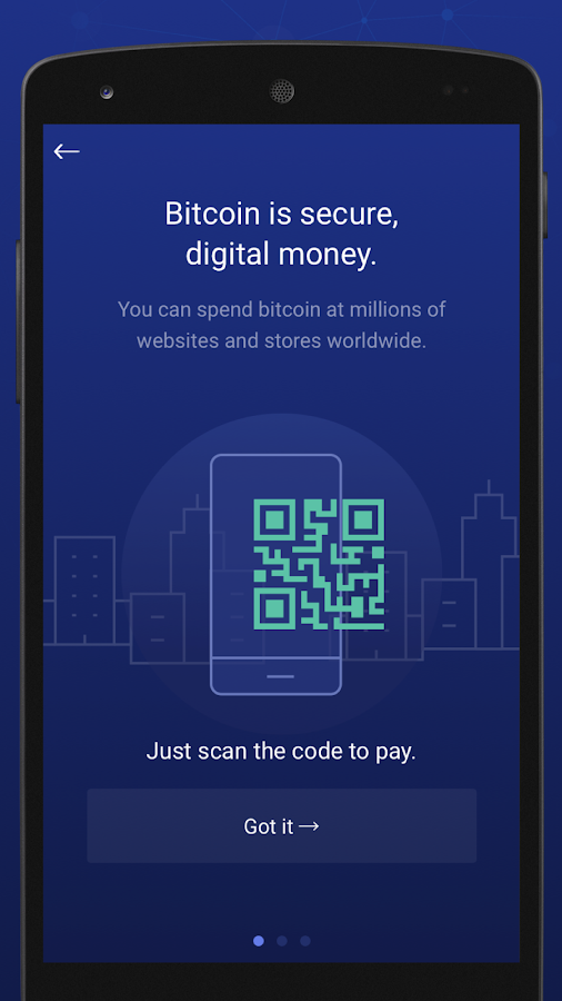 BitPay Secure Bitcoin Wallet Screenshot