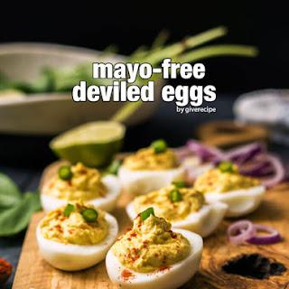 Mayo-Free Deviled Eggs