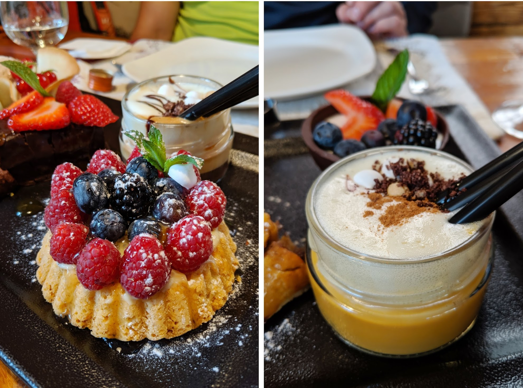 The desserts at Rifugio La Roda