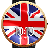 Animated UK Flag Watch Face