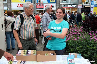 Photo: Dr. Carola Eckstein kandidiert im Wahlkreis Stuttgart II bei der Bundestagswahl für die Netzwerke, der von Stuttgart 21 betroffenen Anwohner