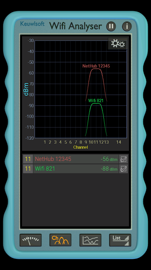 Wifi Analyser- screenshot