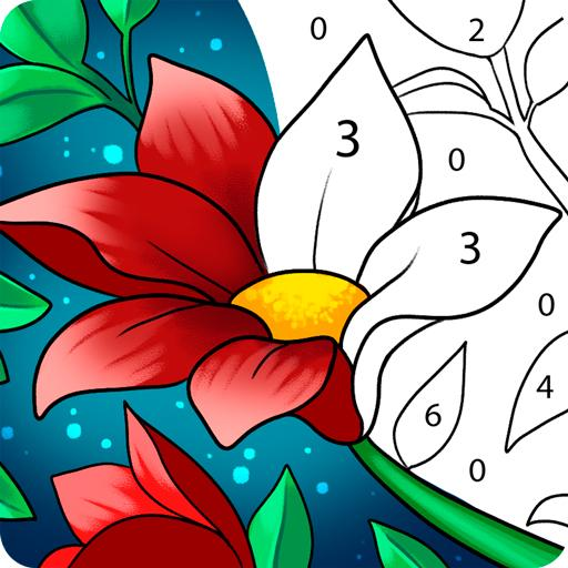 Paint by Number: Free Coloring Games - Color Book Icon