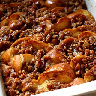 Baked French Toast with Maple and Praline Recipe