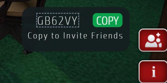 Copy code to invite friends on Gamentio