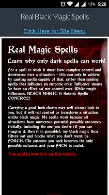 Real Black Magic Spells - screenshot