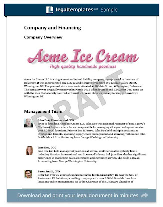 ice cream parlor business plan