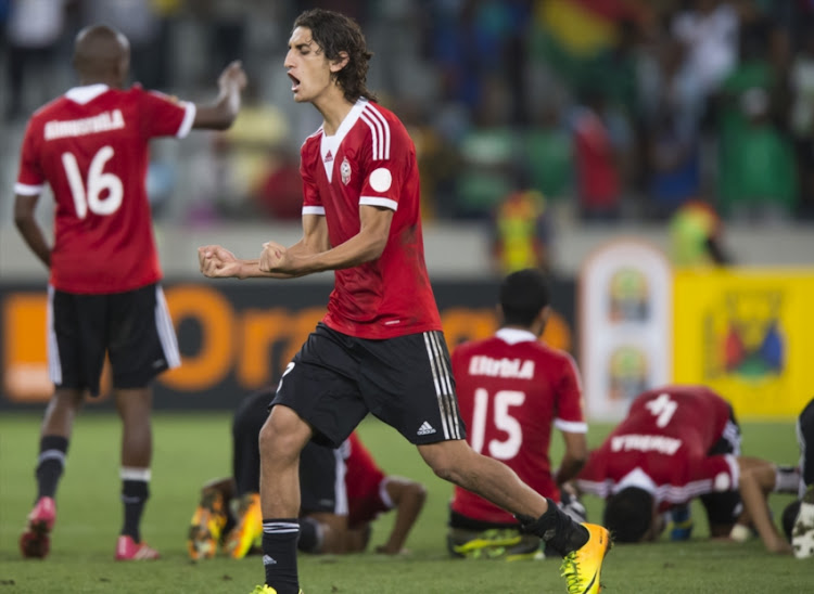 Celebrations after winning during the 2014 African Nations Championship final match between Libya and Ghana at Cape Town Stadium on February 01, 2014 in Cape Town, South Africa.
