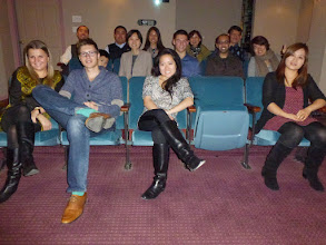 Photo: Movie time at Ah Mou's Thanksgiving party
