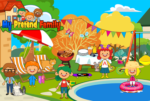 My Pretend Home & Family - Kids Play Town Games! android2mod screenshots 6