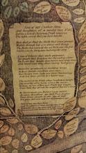 Photo: verse on the Lippincott Family Tree