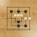 Nine men's Morris - Mills - Free online board game icon