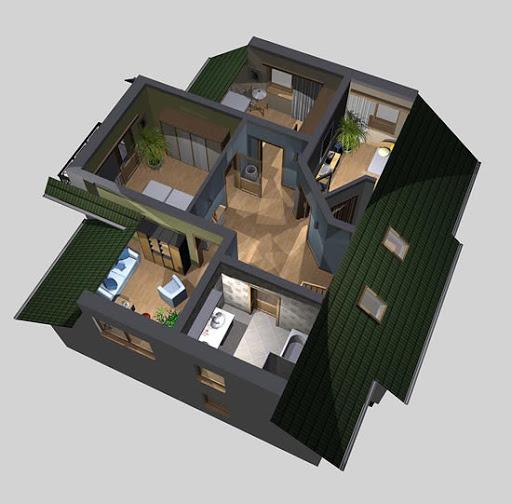 APS 008 - Rzut poddasza 3D