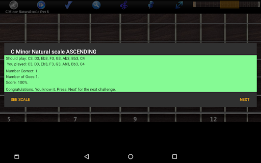 Guitar Scales & Chords Free Added Sustain option screenshots 12