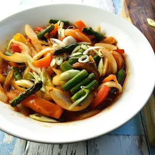 Korean Stir Fried Vegetables.