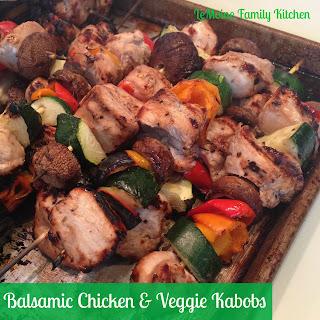 Balsamic Chicken & Veggie Kabobs