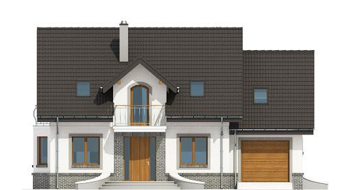 Dom Dla Ciebie 3 z garażem 1-st. A - Elewacja przednia