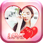Pink Hearts Love Photo Frames APK icon