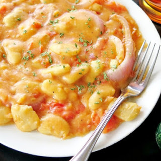 Butter Beans in Fresh Tomato Sauce