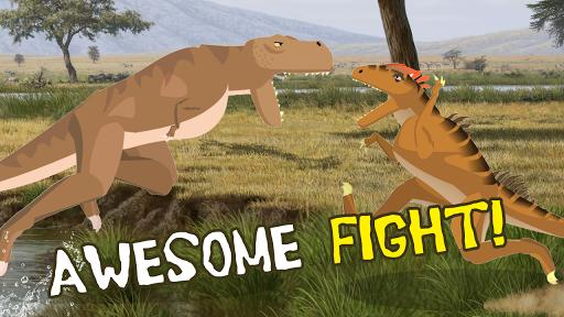 T-Rex Fights Allosaurus  captures d'écran 1