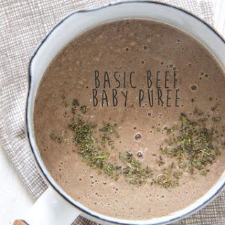 Basic Beef Baby Puree Recipe