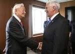 【APEC會議】台灣張忠謀晤彭斯 明與安倍晉三會談