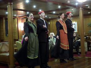 Photo: That evening we were treated to dancers who showed us folk dances from various areas of Croatia.