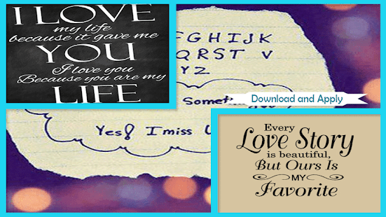 Love images with quotes - náhled