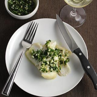 Roast Cod with Herb Pesto