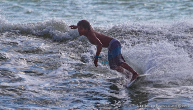 Photo: Cutting back to get a little  more out of the wave