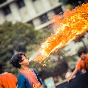 Flame thrower  by Said Rizky - People Street & Candids