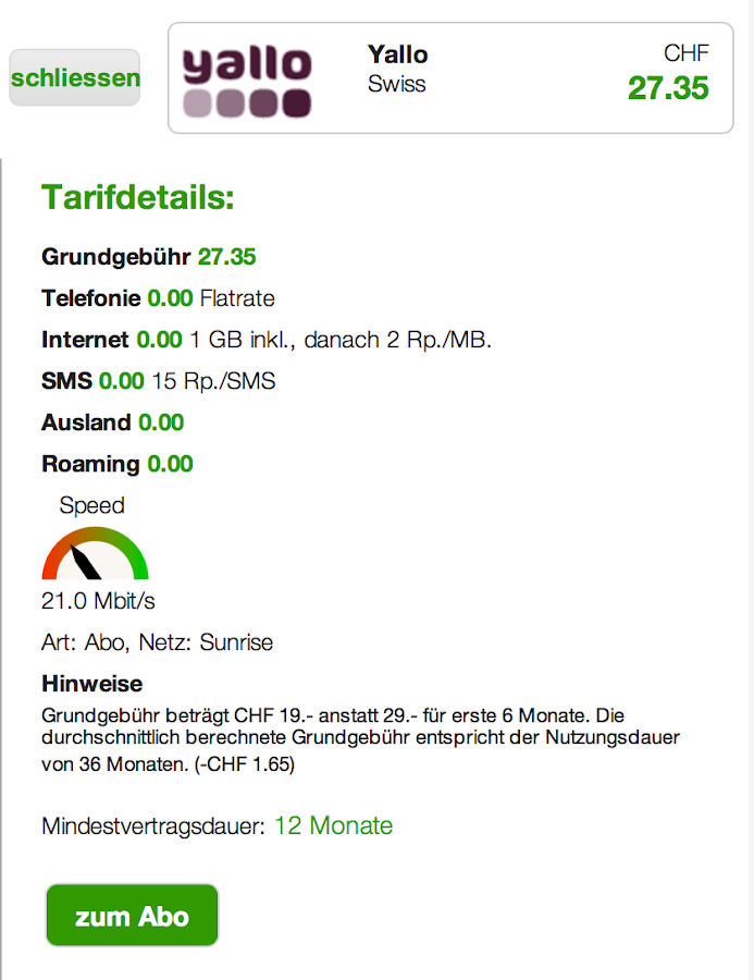 dschungelkompass Handytarife- screenshot