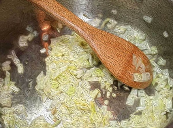 Add the onions, to the pan, and sauté with until slightly softened, about 2...