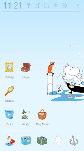 無料个人化Appのムーミンのバスタイム テーマ|記事Game