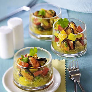 Mussel, Pepper and Ginger Salad.