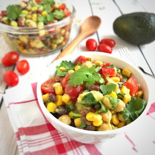 3 Bean Avocado Salad with Lime Dressing.