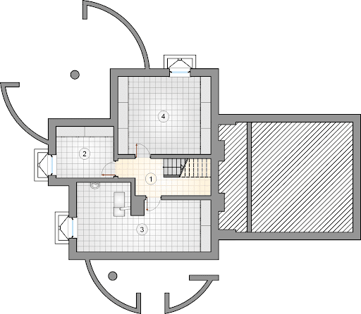 Agawa V - Rzut piwnicy