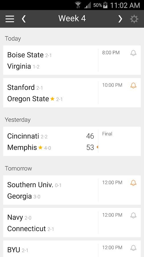 www ncaa football schedule google football scores