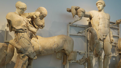 Photo: The remains of the ancient friezes are all in the museum.