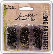 Tim Holtz Idea-Ology Long Fasteners .4375´ 99/Pkg