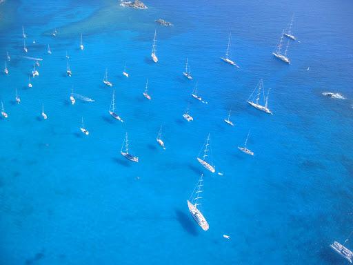 st-barts-yachts.jpg - Sailboats and yachts in the bay at St. Barts.