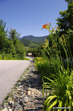 Photo: The road into Smugglers' Notch State Park by Justin Lajoie