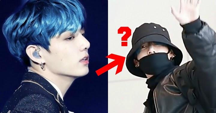 Inimile fanilor ARMY au tresărit la vederea unui indiciu care demonstrează că Jungkook din BTS are părul albastru!