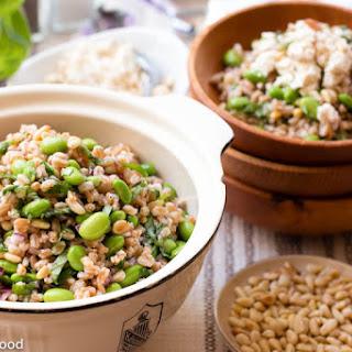 Farro Salad w/ Edamame & Pine Nuts.