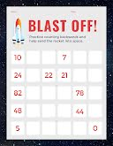 Blast Off Counting - Worksheet item