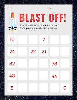Blast Off Counting - COVID-19 item