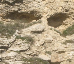 """Photo: This site in Israel is believed to be near where Jesus was crucified: Golgotha or the Place of the Skull. A number of skulls were found here, one of many backdrops for Journey to the Garden.  Permission granted for using to promote Journey to the Garden. For a higher resolution photo click """"More"""" and then """"Download photo.""""  © Copyright 2011 by Rich Swingle"""