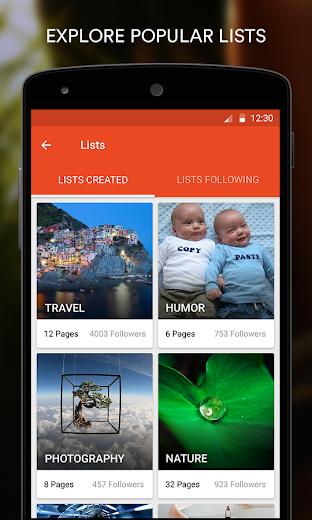 Screenshot 3 for StumbleUpon's Android app'