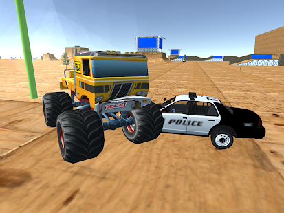 Monster Truck Drive Police Car Chase - náhled