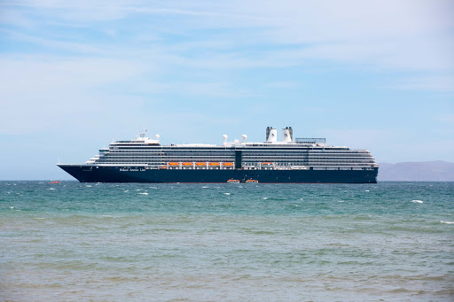Holland America's ms Westerdam moored in the seaside village of Loreto, Mexico.